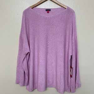 Vince Camuto Sweater Plus Ribbed Long Bell Sleeve